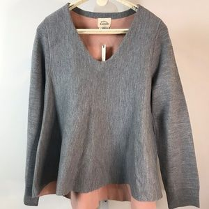 Atelier Camille (Anthro) Grey Swing Sweater XL NWT